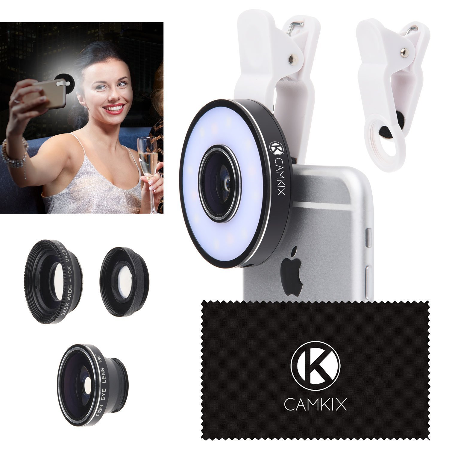 LED Ring Light and Camera Lens Kit - £12.49